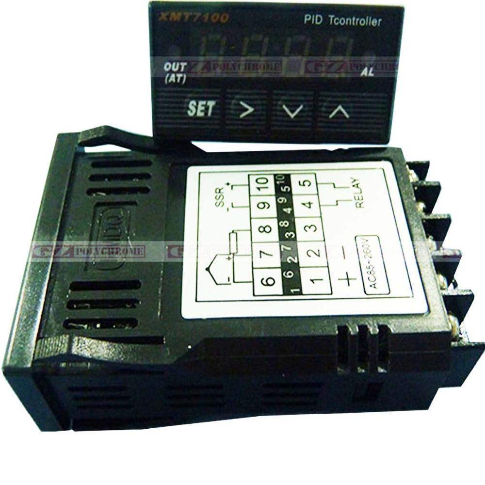 Printer Temperature Controller XMT7100 Thermostat SSR PID for Xuli Litu Fuli Gongzhen Thunder-jet Smart Jet Fortune Lit Inkjet