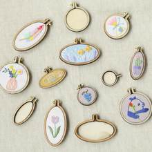 Mini Wood Embroidery Hoop Pendant Laser Cut Embroidery Frame Tiny Stitching Jewelry Hoop For Necklace Oval And Round(China)