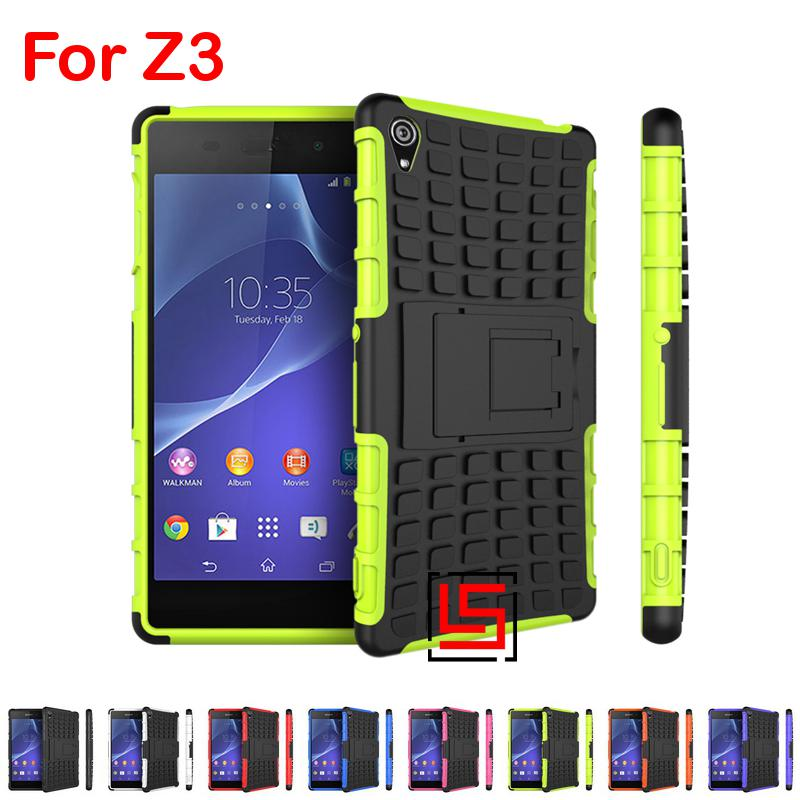 Sport Armor Rugged Hybrid Heavy Duty Hard PC TPU ShockProof Back Phone Phon Mobile Case Cover For Sony Xperia Z3 D6603 Orange