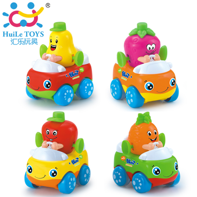 1PC Baby Toys Fruit Inertia Car Fleet Wheels Mini Racing Car Model Cartoon Gift for Children Kids Boy 1-3 years Huile Toys 356A