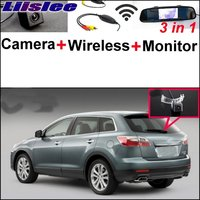 3 In1 Special Camera Wireless Receiver Mirror Monitor DIY Back Up Parking System For Mazda CX