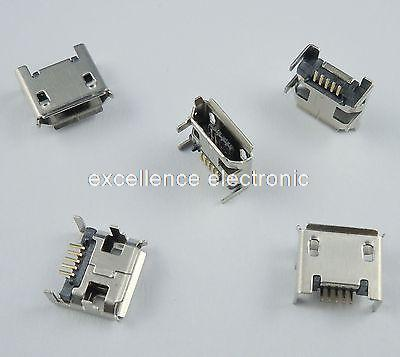 100 Pcs Micro USB Type B Female 5 Pin DIP Socket Connector 4 Legs wholesale 20 pcs micro usb type b female 5 pin smt placement smd dip socket connector plug adapter