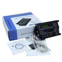 LEVOU TC420 DC12V/24 V Tempo Dimmer Controlador RGB 5 5channel Saída Total 20A Ânodo Comum Programável Frete Grátis tempo programab