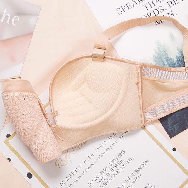 Two Wearing Methods Lace noodles Strapless bra suit Gather palm brackets together Breathable Women's Bra Suit 80A 80B 85A 85B