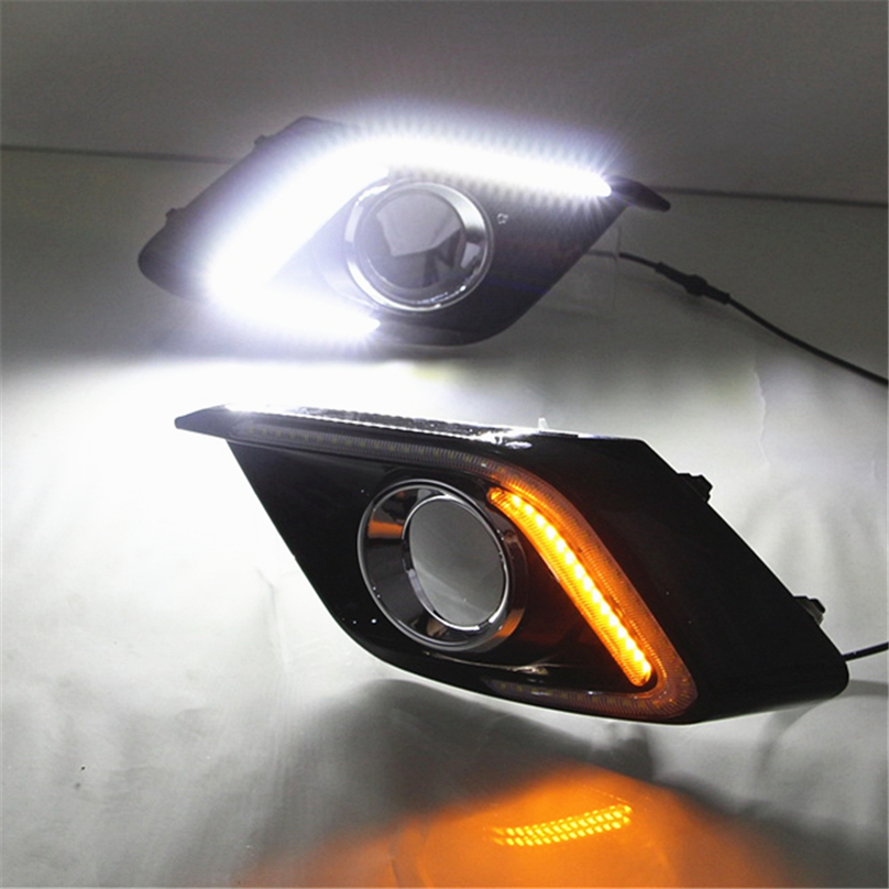 Car Flashing For Mazda 3 Mazda3 Axela 2013 2014 2016 Driving DRL with turn signal Daytime