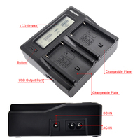 NP F960 NP F970 NP F750 Ultra Fast 3X Faster Dual Digital Charger For Sony NP