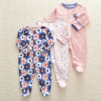 Baby clothes 3pcs sets newborn baby girls clothes newborn rompers pajamas boys clothing toddler bebe girls coveralls cotton