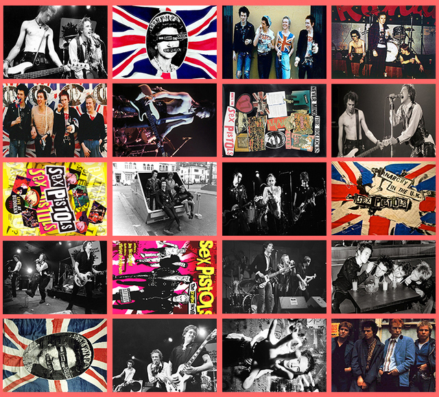 Handmade rock band sex pistols classic series sticker 20 pcs pvc art crafts collection gift