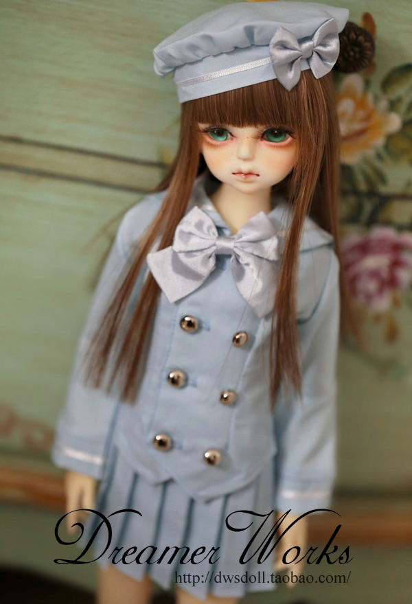 1/4 scale BJD doll clothing Shirt+skirt Sailor School uniforms for BJD/SD accessory.Not included doll,shoes,wig and other C3337 1 3rd scale 65cm bjd nude doll bazael bjd sd doll boy with face up not included clothes wig shoes and accessories