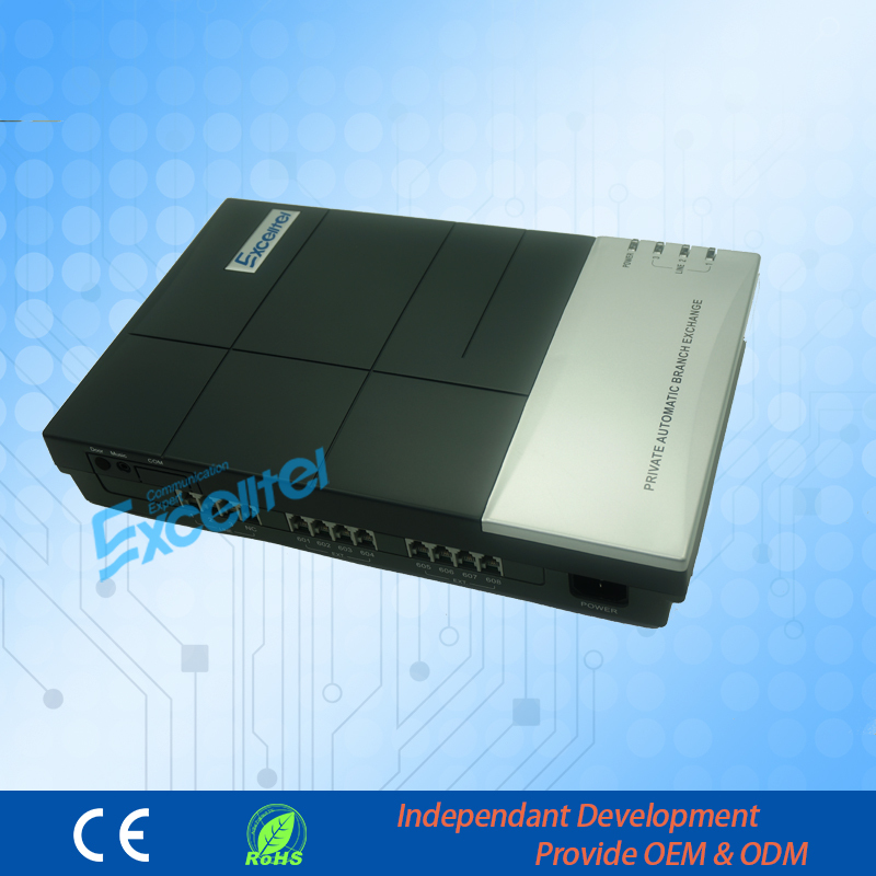 Office Intercom PBX System 8 확장 PABX 전화 - 통신 장비 - 사진 2