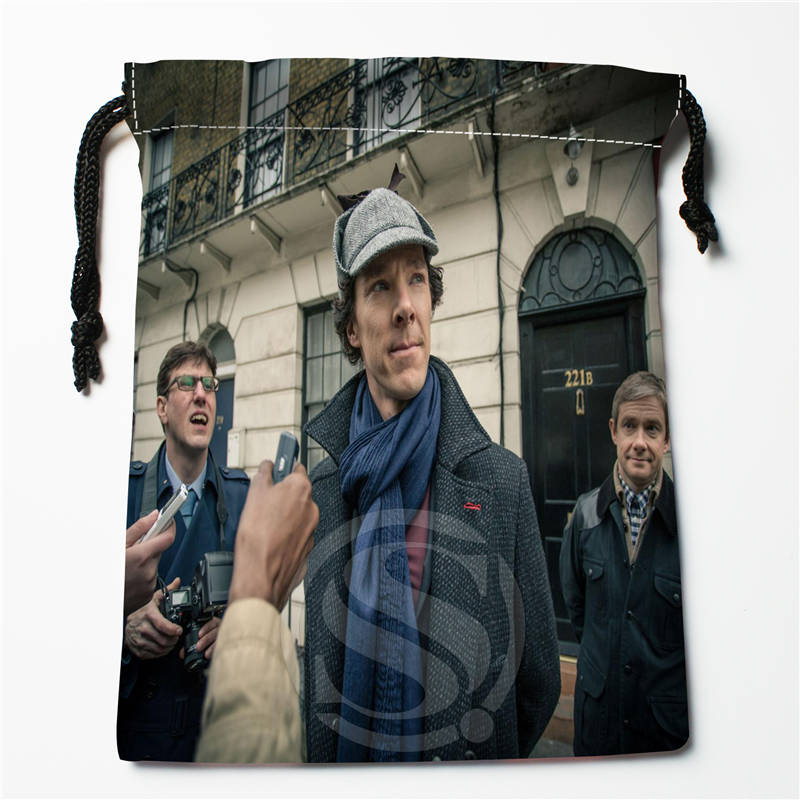 E#!c123 New Sherlock Series Custom Printed  Receive Bag Compression Type Drawstring Bags Size 18X22cm 7&12vc-qk123