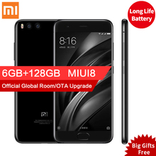 Оригинал xiaomi mi 6 ми-6 pro мобильного телефона 6 ГБ ram 128 ГБ snapdragon 835 octa ядро 5.15 «NFC 12MP Две Камеры Android 7.1 OS
