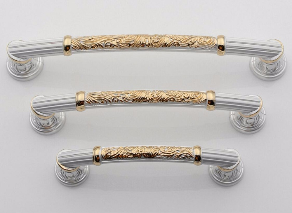 3.75 5 6.3 Dresser / Drawer Handles Pulls Knobs Silver White Gold Kitchen Cabinet H Shabby Chic Door Handle Hardware rhinestone crystal kitchen cabinet door knobs handle drawer handles dresser pulls shabby chic glass knobs silver white clear