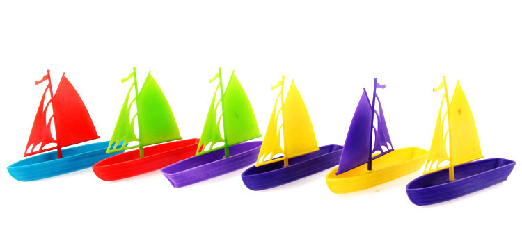 Cute Mini Kids Brain game Toys Plastic Colorful Boat can DIY