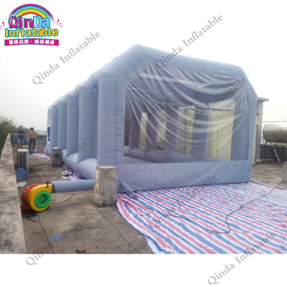 Free air blower 10m*5m*3.5m car spray capsule portable inflatable car tent spray paint booth with carbon filter 6 4 2 5m portable inflatable car shelter carport garage tent inflatable paint spray booth