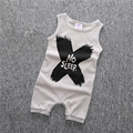 New 2017 fashion black baby rompers baby boy clothes sleeveless newborn cotton baby boys clothing kids infant jumpsuit 0-24M