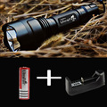 New C8 Cree XML2 U2-1A LED Flashlight,torch,lantern,lanterna bike ,self defense,camping light, lamp,for bicycle+battery+charger