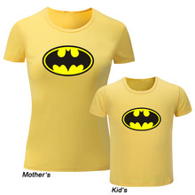 a179490809f0 DC Superhero Bruce Wayne Batman Design Family T-shirts Fathers Mothers  Printing Raglan T Shirt Kids Childrens Graphic Tees Tops