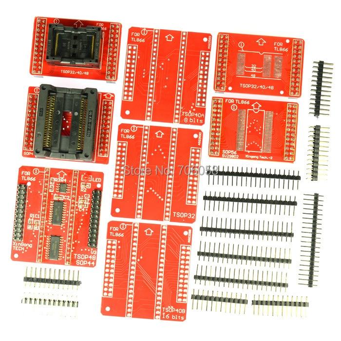 NEW original Adapters MiniPro TL866 Universal Programmer TSOP32 TSOP40 TSOP48 SOP44 SOP56 Sockets TL866A TL866CS newest v6 1 tl866cs programmer 21 adapters ic clip high speed tl866 avr pic bios 51 mcu flash eprom programmer