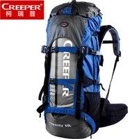 Creeper גברים ניילון תרמיל 60L עמיד למים תרמילי חיצוני מסגרת באיכות גבוהה נסיעות תיק טיפוס הרים וטיולים קמפינג תיק