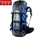 Mochila de nailon para hombre Creeper mochilas impermeables 60L marco externo bolsa de viaje de alta calidad escalada Camping senderismo bolsa de montaña
