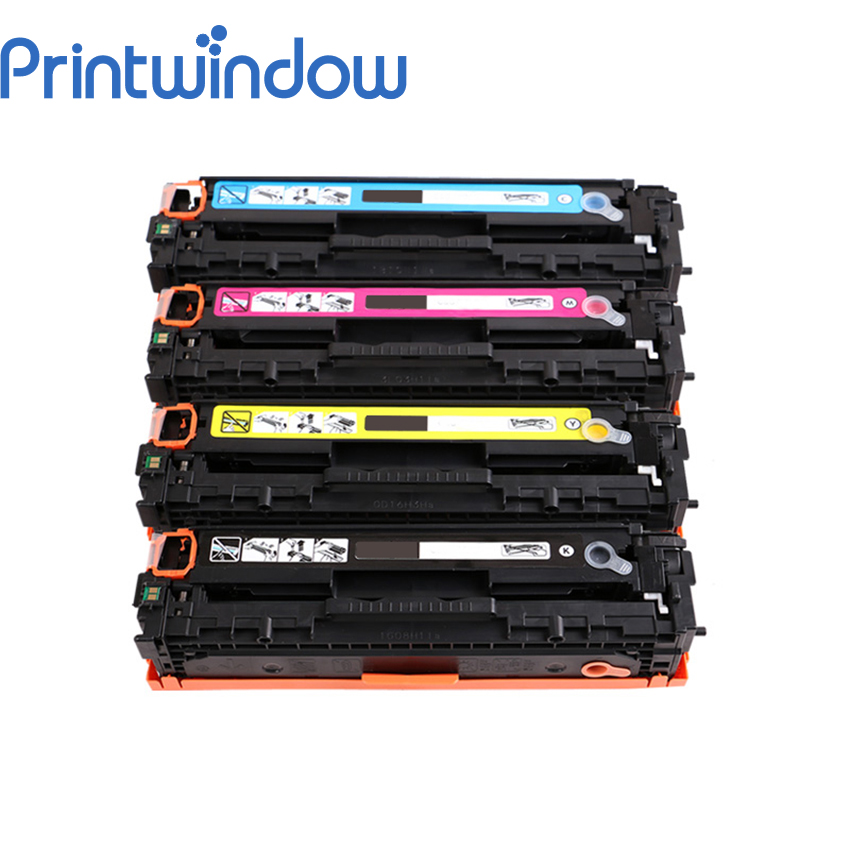 Printwindow Compatible Toner Cartridge CB540A CB541A CB542A CB543A for HP CM1300/CM1312/CP1210/CP1215/CP1515N/CP1518NI 4X/Set tph 1215 2c laser toner powder for hp cp 1215 1515 1518 2020 2025 cm 2320 1312 1300 bkcmy 1kg bag color