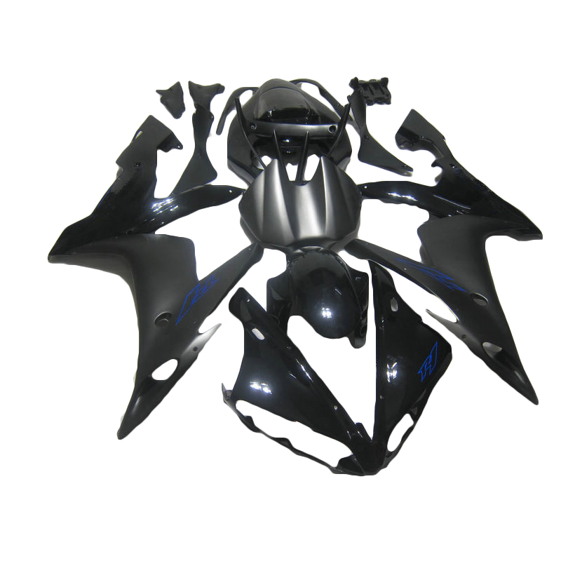 High quality ABS fairings for  04-06 matte black YAMAHA R1 YZF R1 fairing kit for 2004 2006 injection molding LY29 high quality abs fairing kit for yamaha r6 1998 1999 2000 2001 2002 yzf r6 yzf r6 98 02 yellow white black fairings set nx27