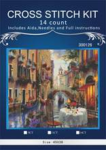 Top Quality Beautiful Lovely Counted Cross Stitch Kit similar dmc aida threads higher quality- Venice city(China)