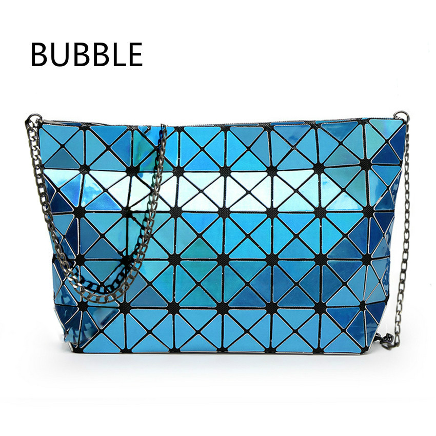Clear Inventory Fold over Baobao handbag Crossbody bag women pearl bao bao laser sac Diamond Lattice geometry shoulder bag