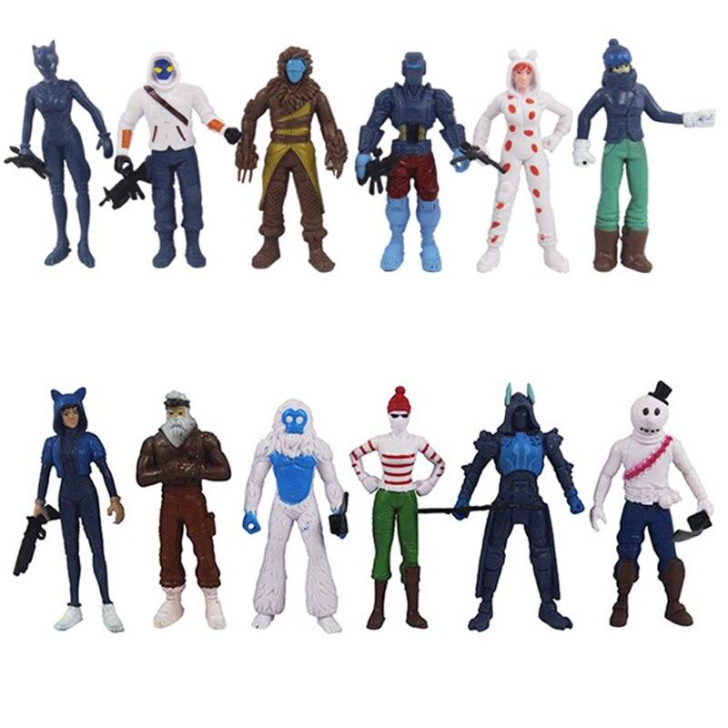 Figure Nendoroid Game Doll Matching In Colour Action & Toy Figures 12pcs/lot Fortnited Battle Royale Kids Figuras Model Juguetes 11cm Pvc Fortnight Boy Fortnit