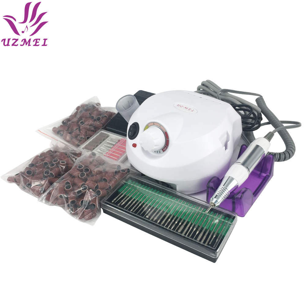 Hot Selling Professional Electric Nail Manicure Fil Manicure Kit 110 ~ 220V Nail Art Nail Tools med slibebånd
