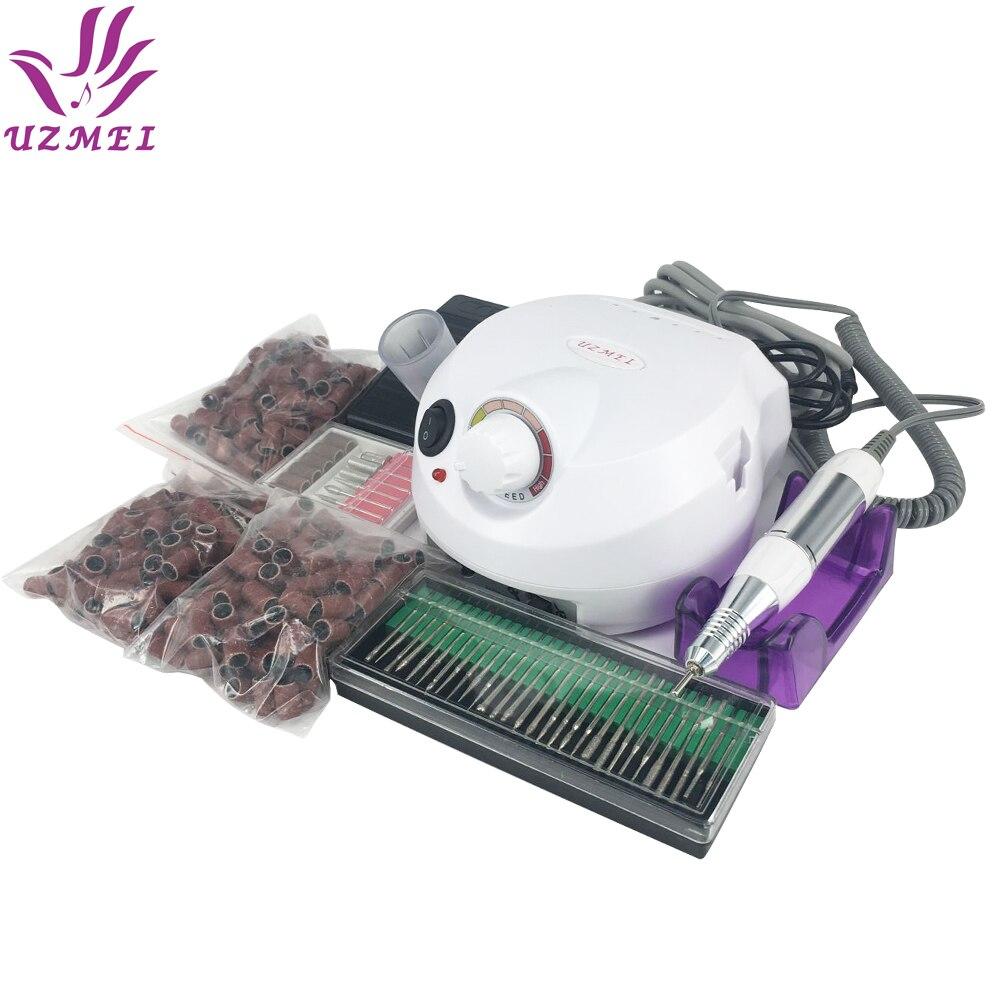 Vente chaude Professionnel Électrique Nail Manucure Fichier Manucure Kit 110 ~ 220 V Nail Art Nail Outils avec bandes de ponçage