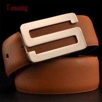 2014 Unisex Genuine Leather Belt Letther S Smooth Buckle Belt For Men