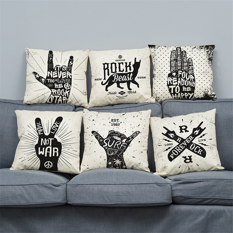 Crazy Wedding Gifts: European American Black Letters Crazy Rock Gestures
