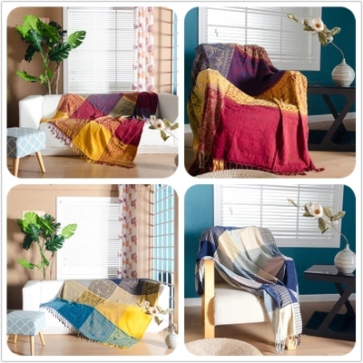Livraison gratuite style méditerranéen boho couverture différents types plaid lit propagation jeter canapé couverture couverture