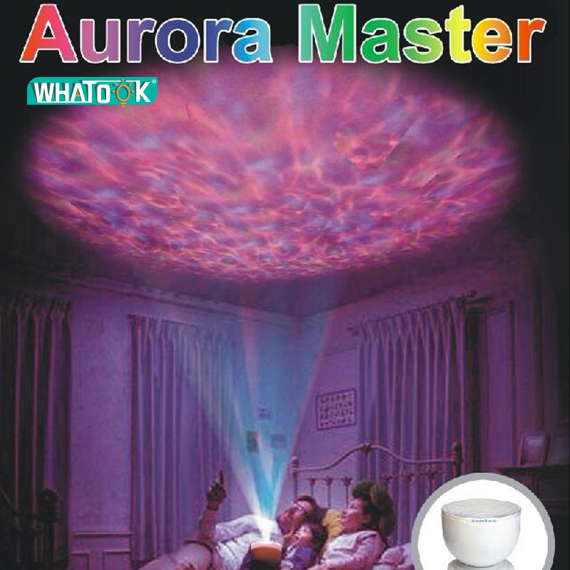 Aurora Master LED Light Lamp Ocean Wave Relax Projector LED Night Light Lamp MP3 Iphone Music Input Speaker ship by DHL x 10pcs