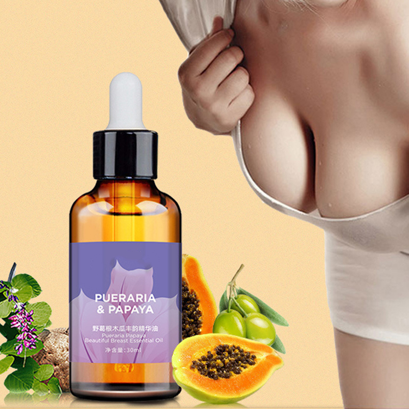 30ml Breast Enhancement Essential Oil Papaya Promote Breast Growth Cream Busty Chest Enlargement Lifting Massage Oil Body Care