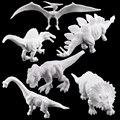 6 стилей DIY граффити динозавр стетегозавр искусственная роспись животные Детские обучающие игрушки (S8