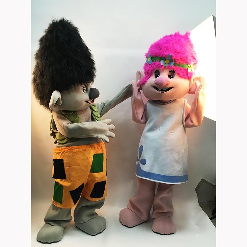 2019 Yeni Troll Mascot Costume Trolls Character Mascot Parade Quality - Karnaval kostyumlar - Fotoqrafiya 3