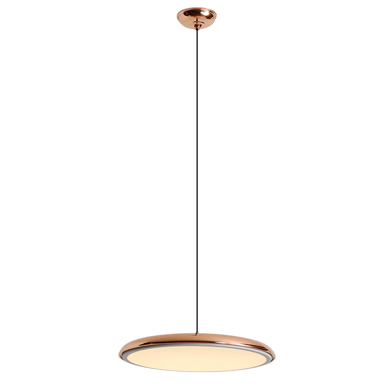 New classical macaron pendant light round plate colors Iron art and acrylic shade droplight home foyer bedroom deco hang light