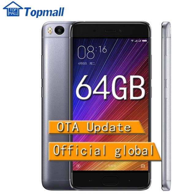 "Оригинал Xiaomi сотовый телефон Mi5S 64 ГБ ROM Телефон Snapdragon 821 Cpu: Quadcore 5.15 ""Mi 5S Смартфон Смысле ID Отпечатков Пальцев"