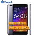 """Original xiaomi teléfono celular mi5s 64 gb rom teléfono snapdragon 821 quadcore 5.15 """"mi 5S smartphone sentido de identificación de huellas dactilares"""