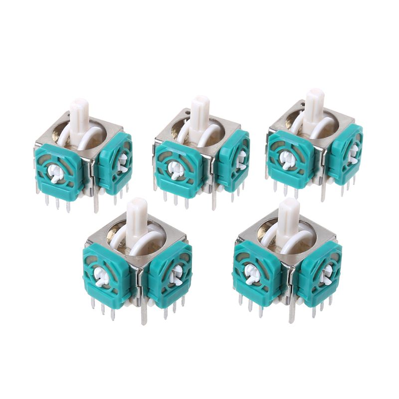 5PCS 3D Analog Joysticks Sensor Module Stick Replacement Repair Parts Game Accessoires For Nintendo NGC Gamecube Controller