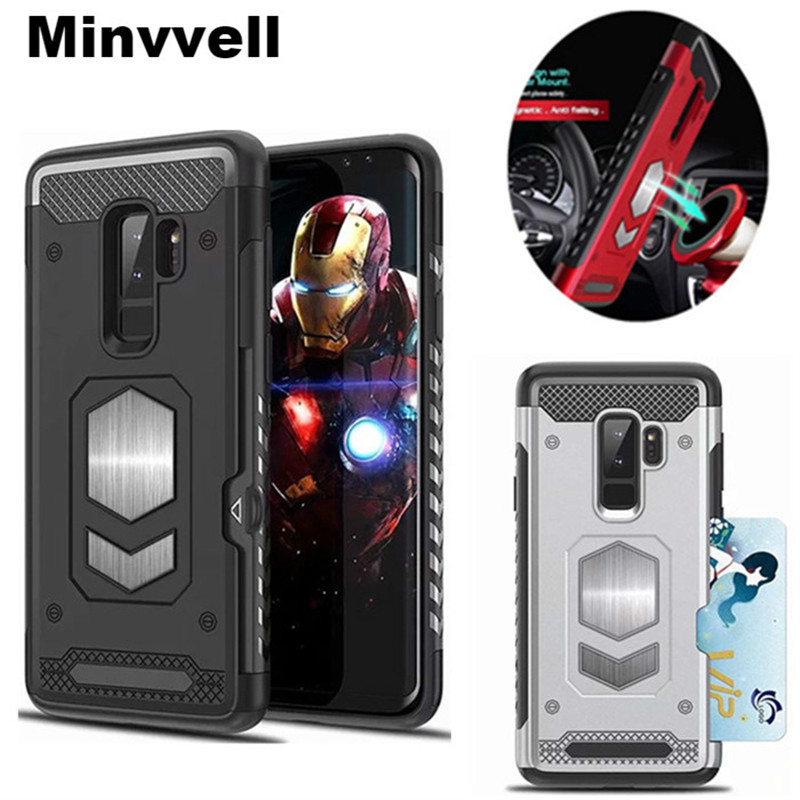 For Samsung Galaxy S9 Plus S7 EDGE S8 NOTE 9 8 5 Magnetic Car Armor Case for A7 A9 A6 A8 Plus J4 J6 J8 2018 A5 J3 J5 J7 2017