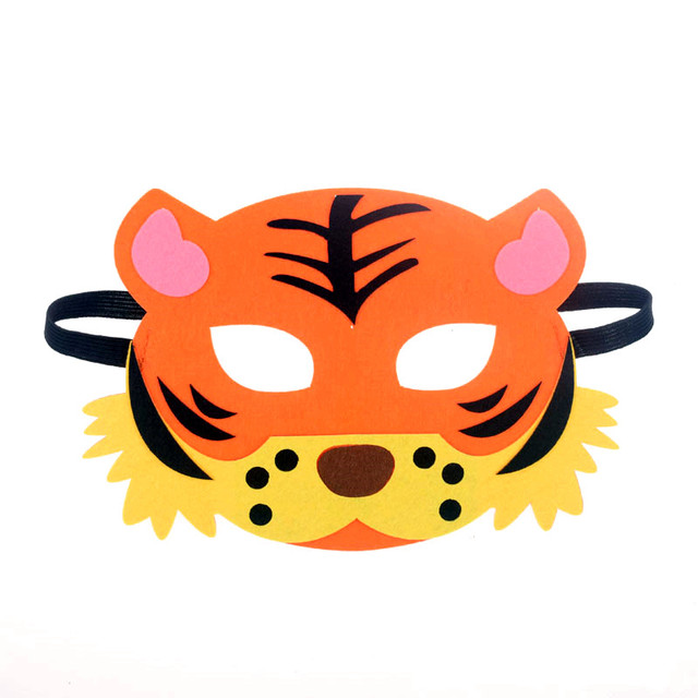 Mask Super Hero Wolf Rabbit Animals Face Giraffe Tiger Mask Kids Children Birthday Costume DIY Masquerade Eye Mask Cosplay Xmas 5