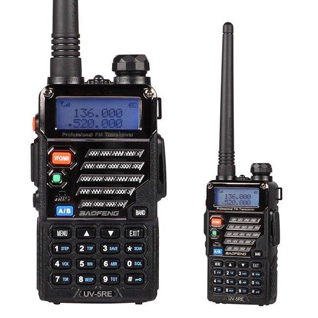 pofung uv-5r tredje generasjon UV-5RE, dual-band UHF / VHF Ham 136-174 / 400-520MHz toveis radio, hodetelefon inkludert