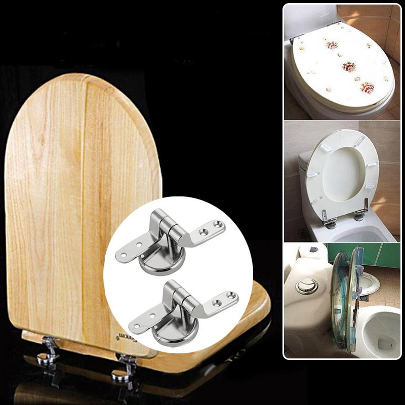 Replacement Pair of Solid Zinc Alloy Home Toilet Seat Hinges Include Fittings skeleton hands style zinc alloy earrings golden pair