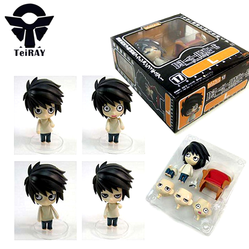 d81b13f51a Cute Death Note Anime L Lawliet Nendoroid PVC Action Figure 10Cm Deathnote  Colletion Model Toy Doll Kids Toys for Boys  17