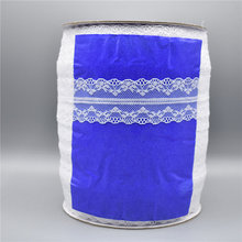 Wholesale 300yards/Roll White Lace Ribbon 40mm/Wide Trim Handicrafts Embroidered Sewing African Fabric Applique Material