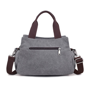 Image 4 - HOT! KVKY High Quality Canvas Bag Women Handbag Solid Zipper Design Casual Shoulder Bags for Female Crossbody Bag Messenger Bags